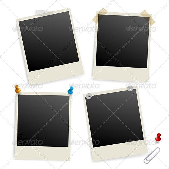 Six Empty Picture Frames - Decorative Vectors