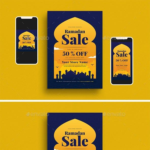 Ramadan Sale Flyer Set