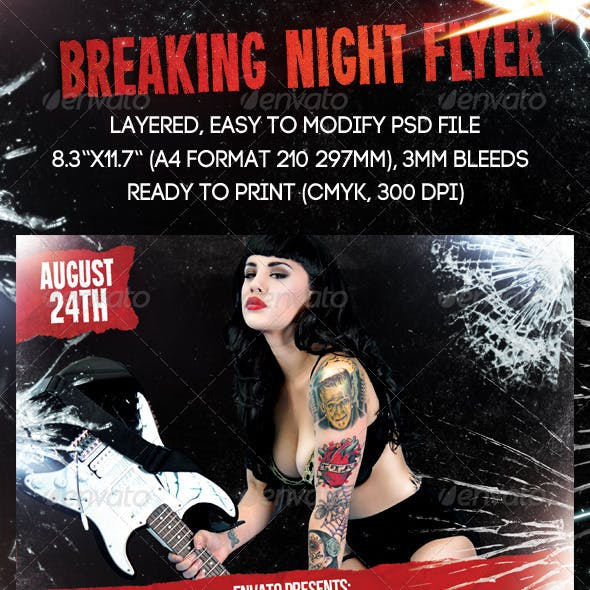 Breaking Night Flyer