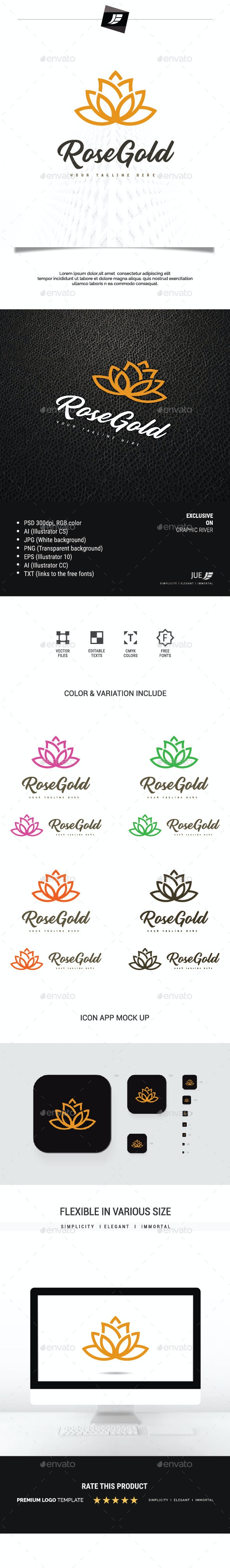 Rose Gold Logo - Nature Logo Templates