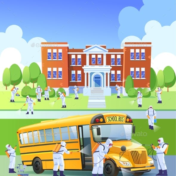 School Closed Quarantine Workers Sprays