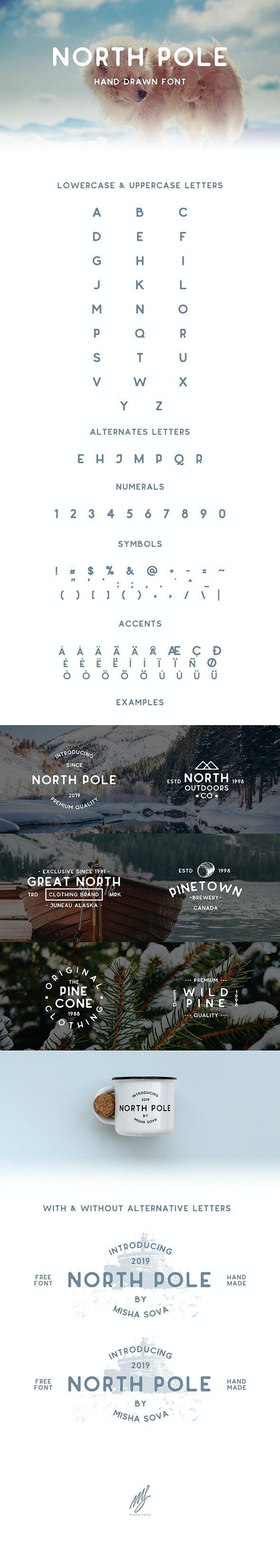 North Pole - Hand Drawn Font - Sans-Serif Fonts