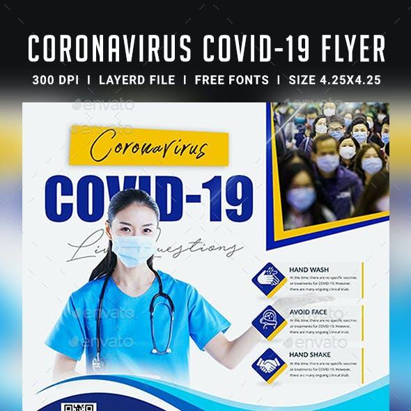 Corona Virus Live Event Flyer Template