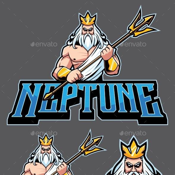 Neptune Poseidon Mascot