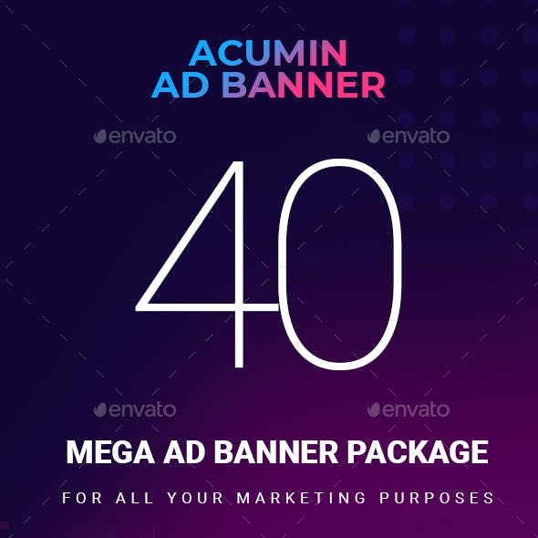 Acumin   A Multipurpose and Multi Business Ad banner package