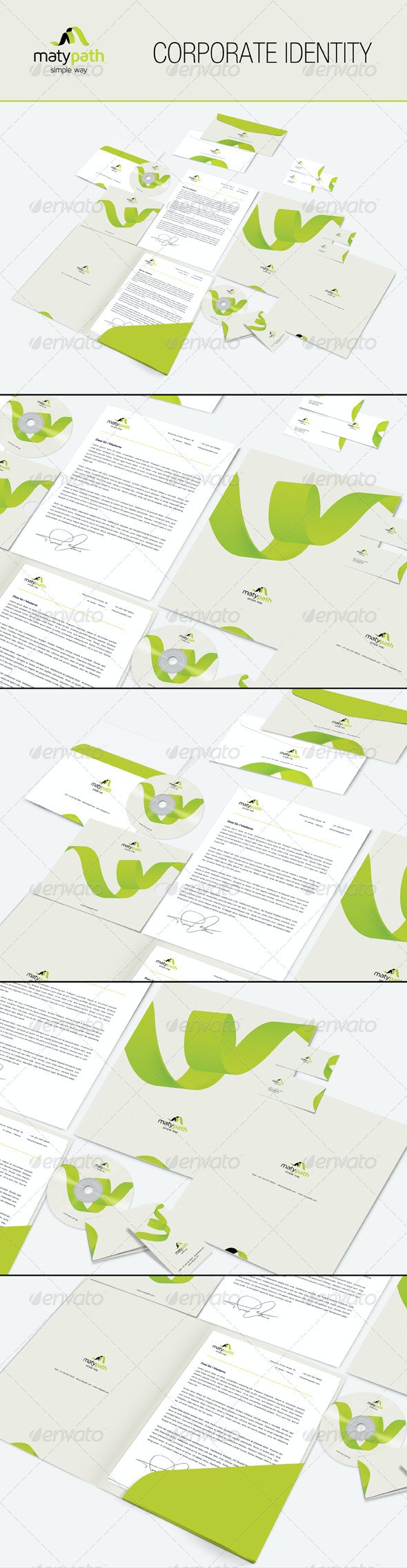 Maty Path Corporate Identity - Business Cards Print Templates