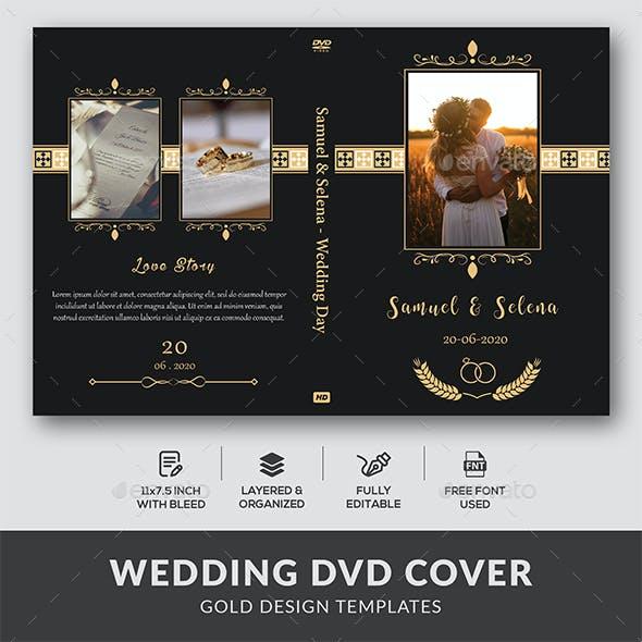 Wedding DVD Cover - Gold Design