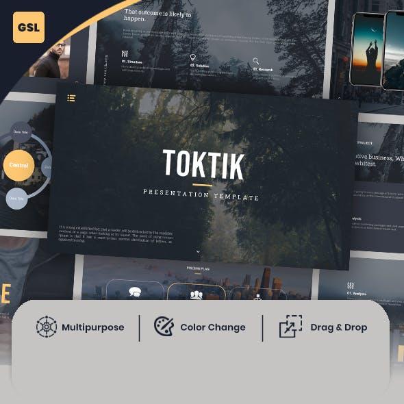TokTik-Minimal & Creative Google Slides Template