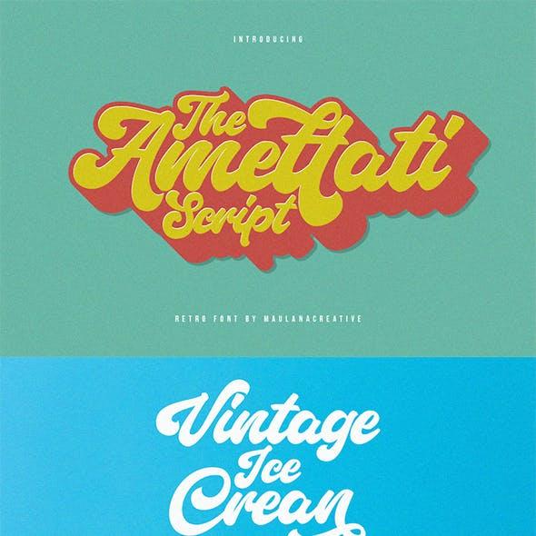 Amettati - Script Retro Font