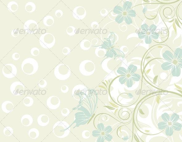 Flower texture - Flourishes / Swirls Decorative