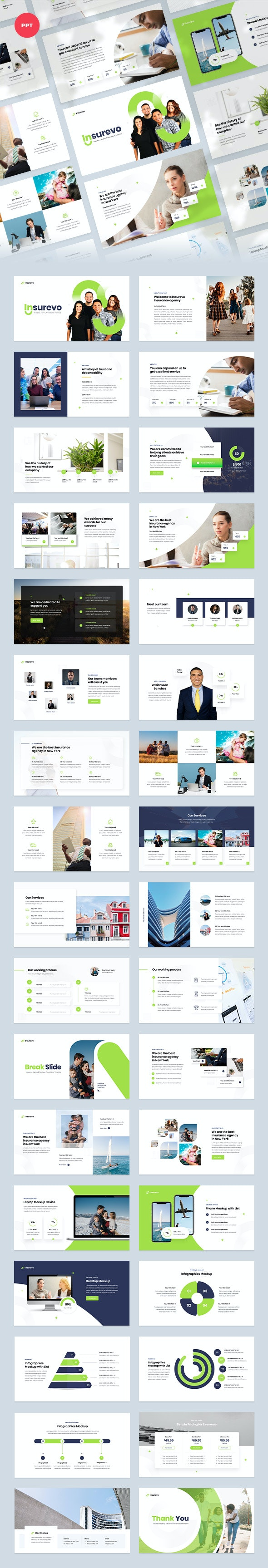 Insurance Agency PowerPoint Template - Business PowerPoint Templates