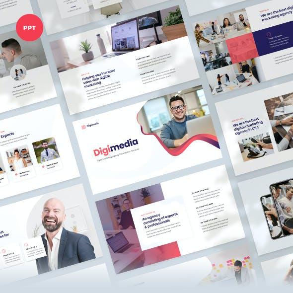 Digimedia - Digital Marketing Agency PowerPoint Template