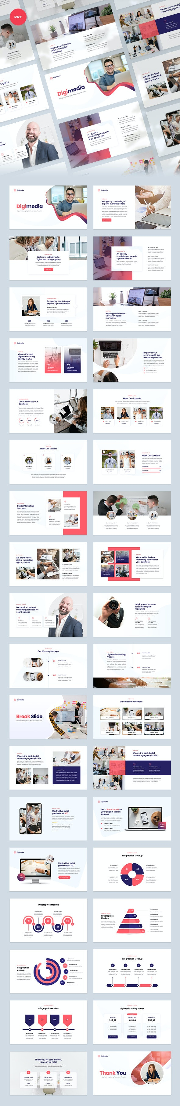 Digital Marketing Agency PowerPoint Template