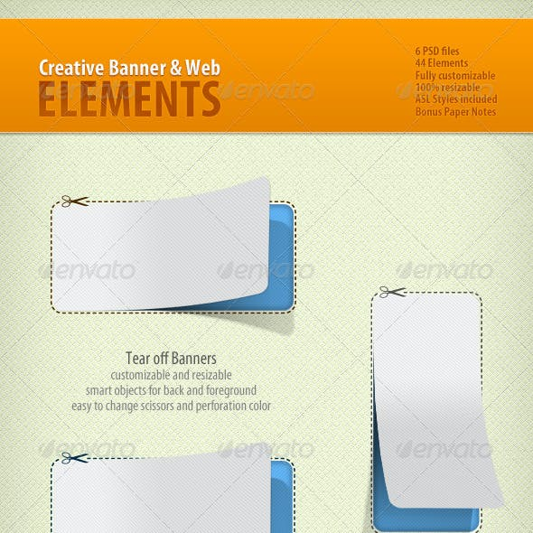 Creative Banner And Web Elements