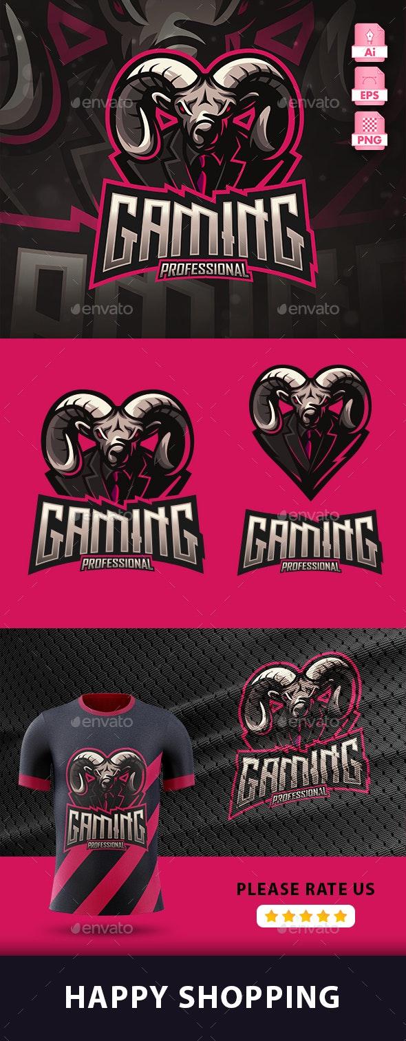 Goat Esport Gaming Logo