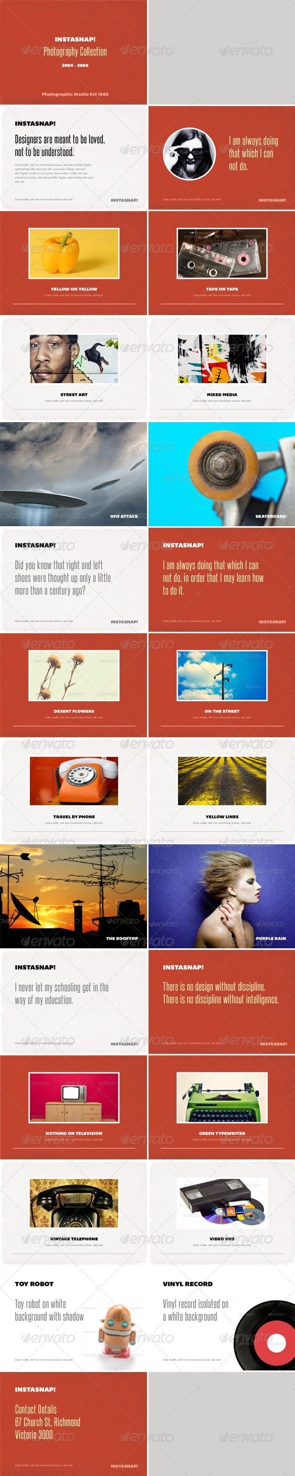 Instasnap - Photo Album or Folio Template - Photo Albums Print Templates