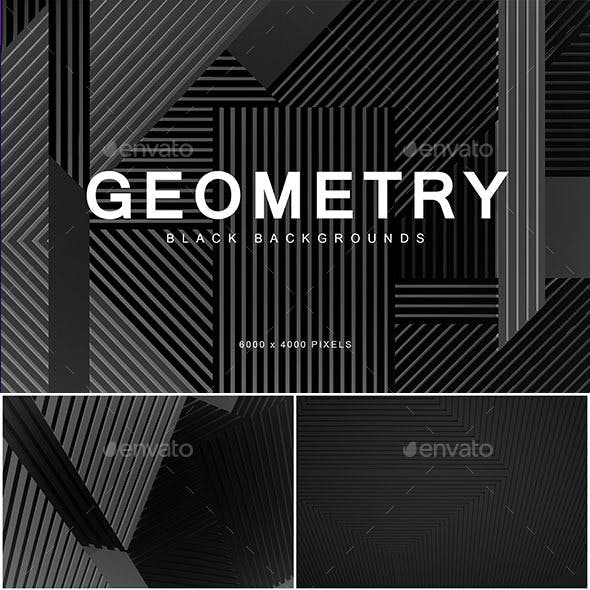 Black Geometry Backgrounds 1