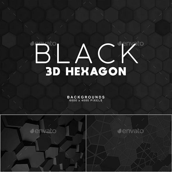 Black Hexagon Backgrounds