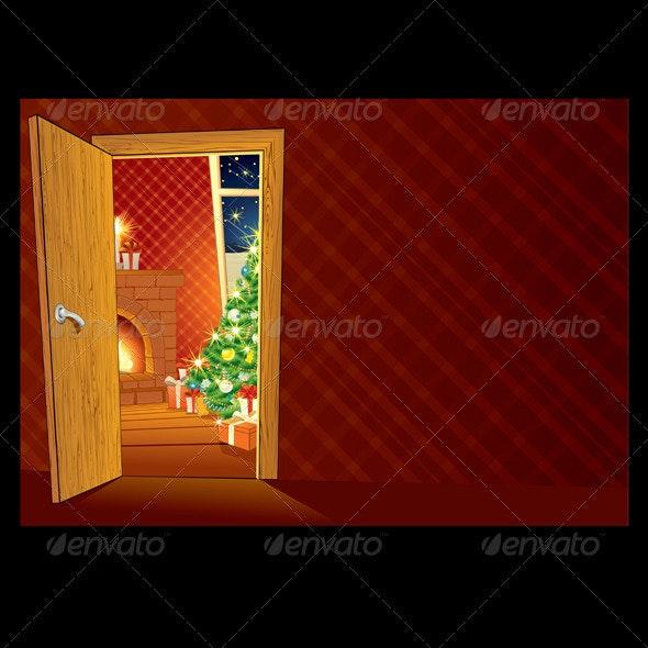 Festive Christmas Interior - Christmas Seasons/Holidays