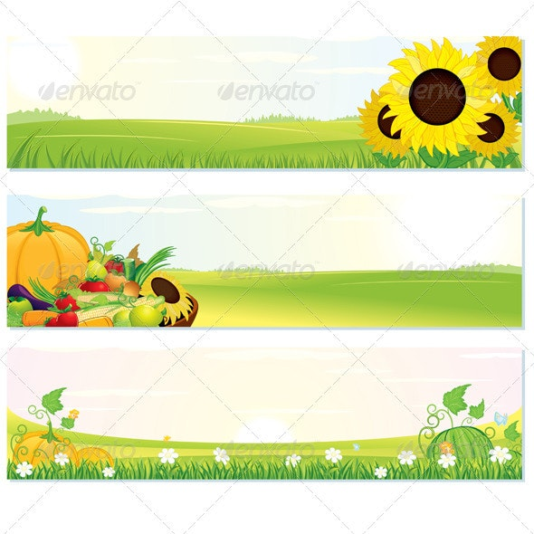 Fresh Nature Banners - Landscapes Nature
