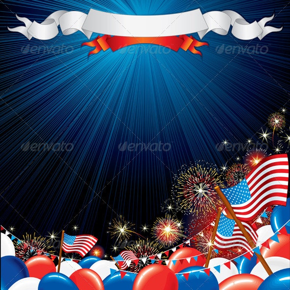 Fourth of July Vector Illustration - Seasons/Holidays Conceptual