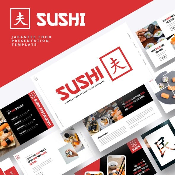 SUSHI - Japanese Food Powerpoint Template