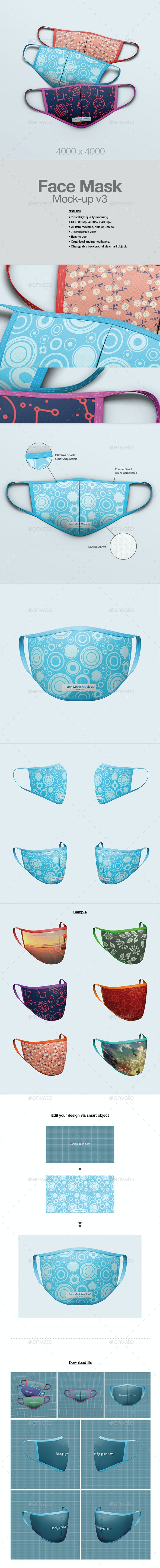 Face Mask Mock-up v3 - Miscellaneous Graphics