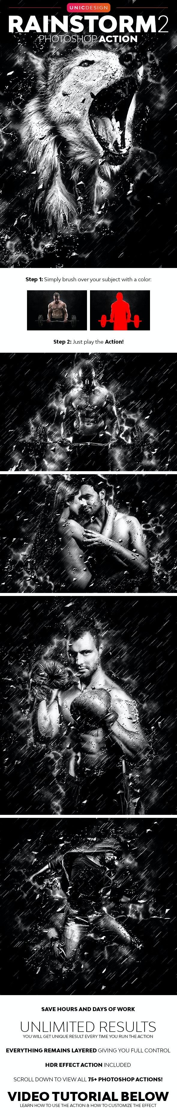 RainStorm 2 Photoshop Action - Photo Effects Actions