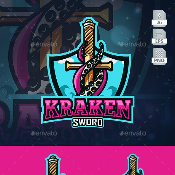 Kraken Sword Esport Logo Template