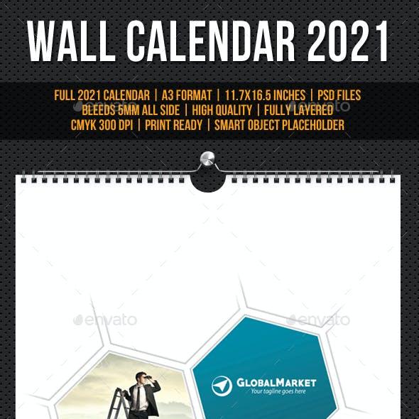 Wall Calendar A3 2021 v16