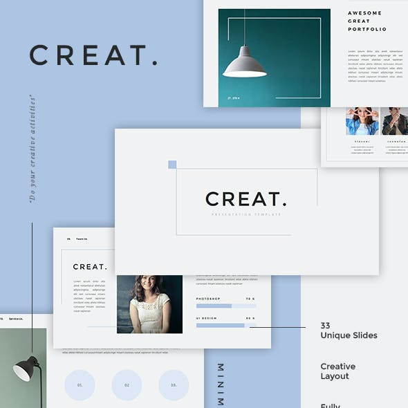 Creat - Minimal & Creative PowerPoint