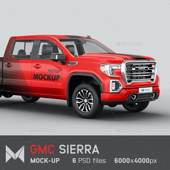 GMC Sierra Pickup Mockup