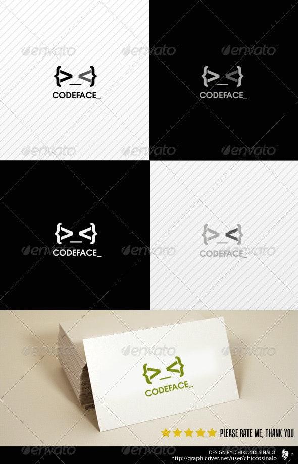 Code Face Logo Template - Abstract Logo Templates