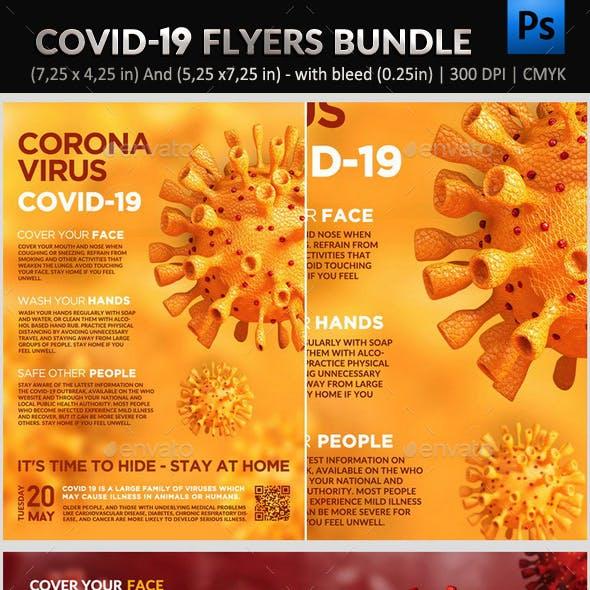 Covid 19 Flyer Bundle - 3 in 1