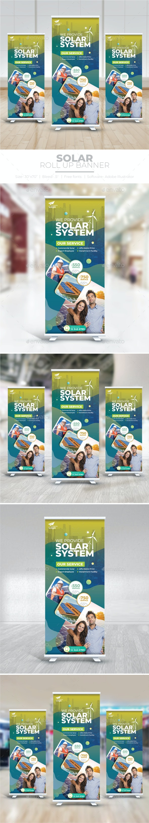 Solar Energy Roll Up Banner - Signage Print Templates