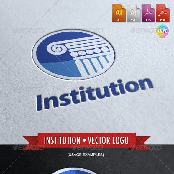 Institution - Vector Logo Template