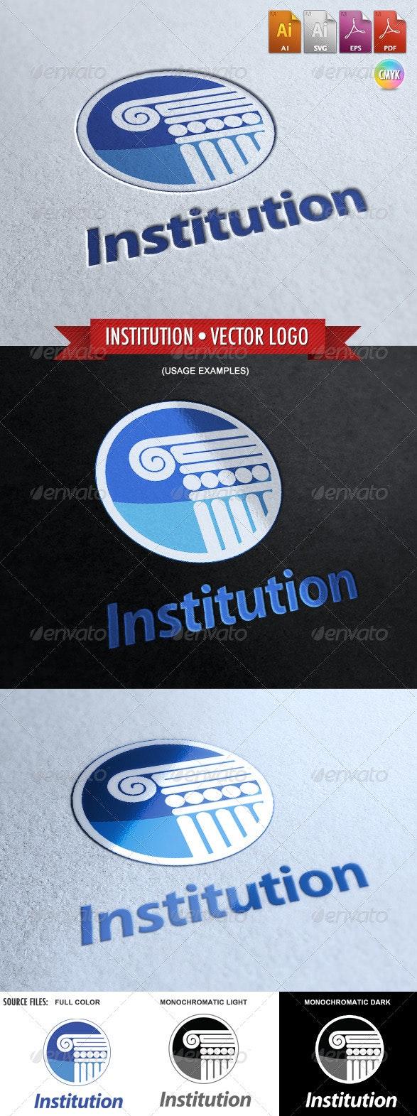 Institution - Vector Logo Template - Buildings Logo Templates