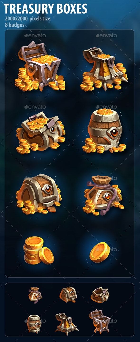 Treasury Boxes - Miscellaneous Game Assets