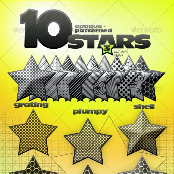 Opaque Stars With 10 Patterns and 3 styles