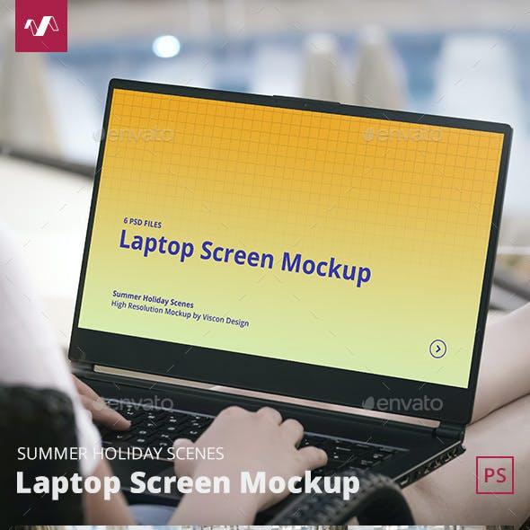 Laptop Mockup Summer Scenes