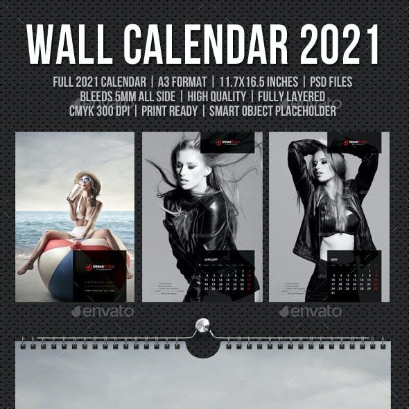 Wall Calendar A3 2021 V09