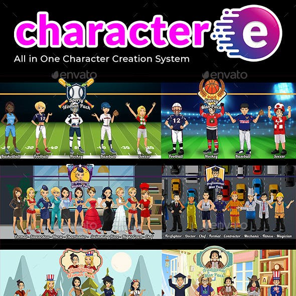 Character-e 50 Character Creation Machines on Photoshop