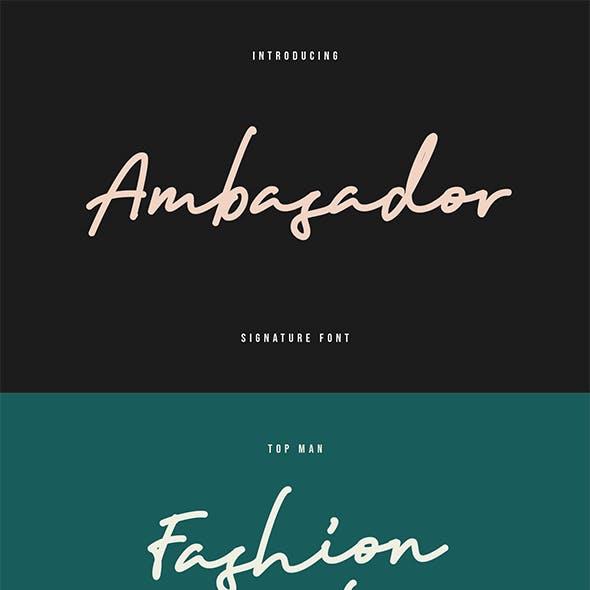 Ambasador Signature Font
