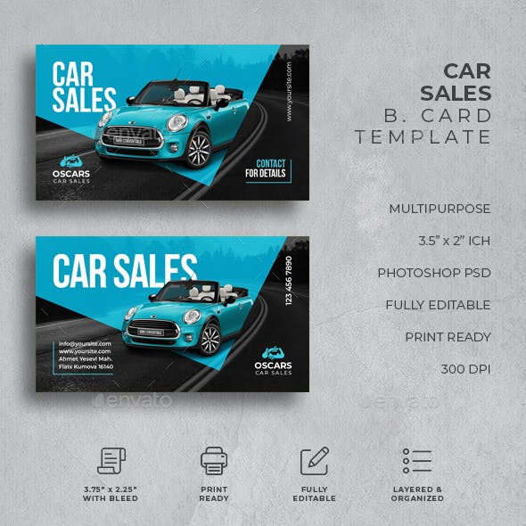 Car Sales Business Card