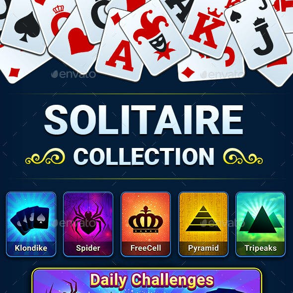 Solitaire Collection Game GUI Pack