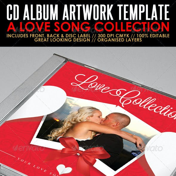 Love Song Collection - CD Artwork PSD Template