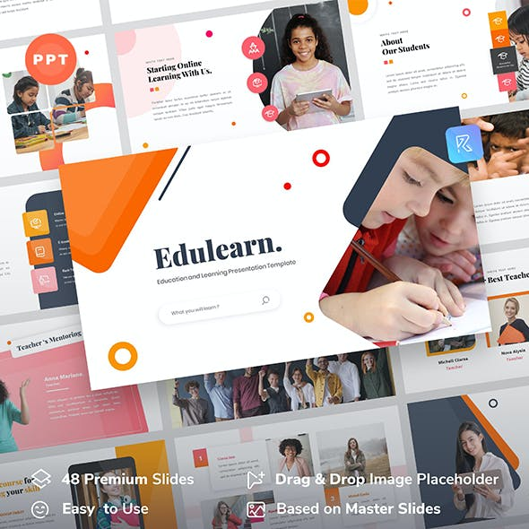 Edulearn – Education and Learning PowerPoint Template