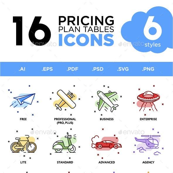 Pricing Plan Icons