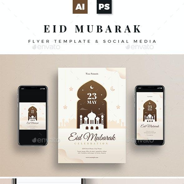 Eid Mubarak Flyer + Social Media