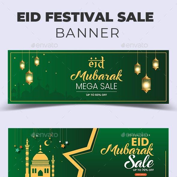 Eid Festival Sale Banner Templates
